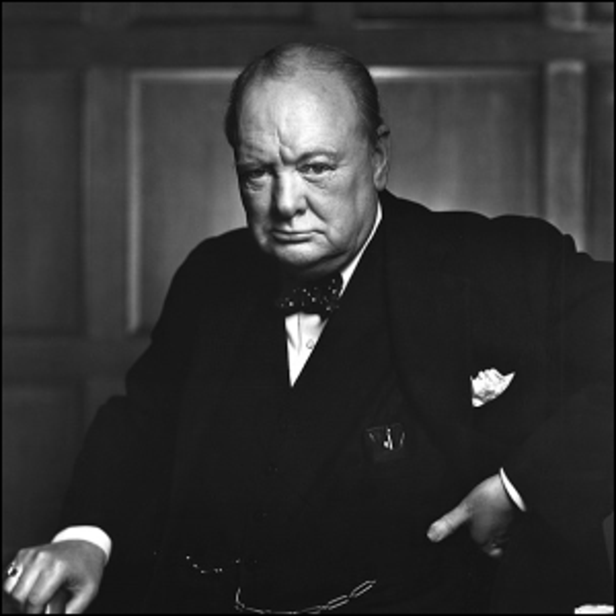 Photo of Sir Winston Churchill taken in Ottawa, Ontario, Canada on December 30, 1941.