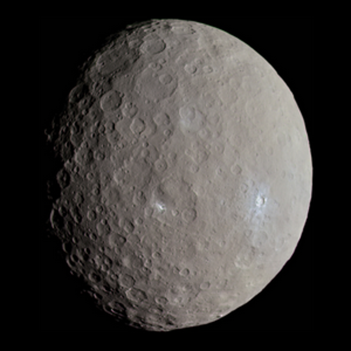 Ceres, as seen by the Dawn space probe.