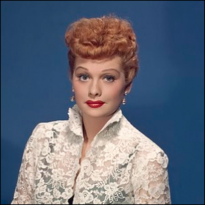 Lucille Ball in a 1950s film still.