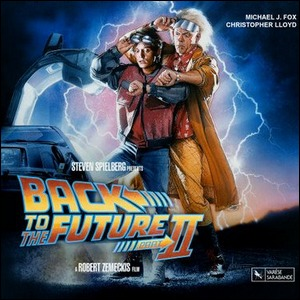 The movie poster for Back to the Future II.