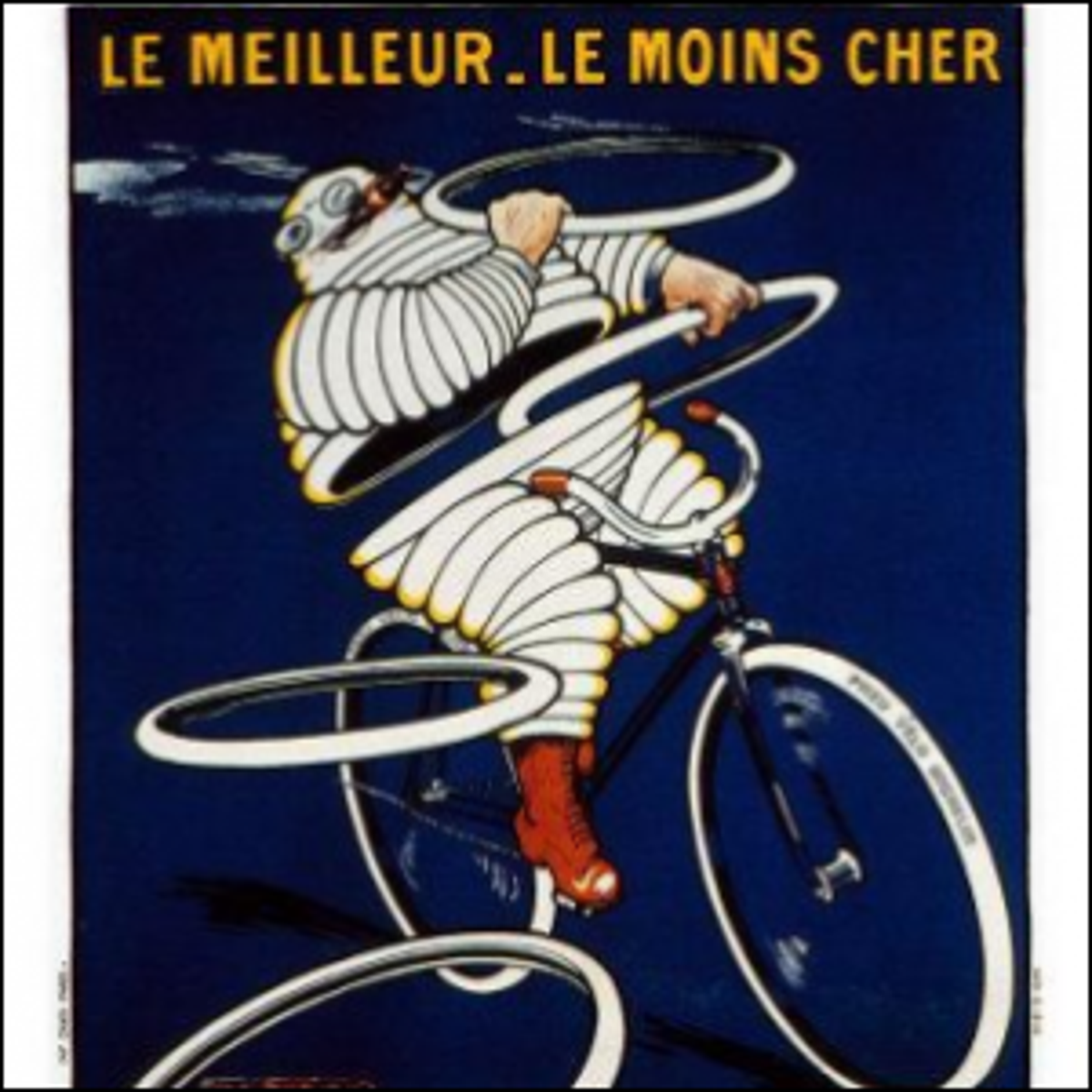 An early advertisement featuring the Michelin Man.