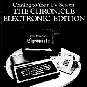 A print ad for early computer-based newspaper delivery services.