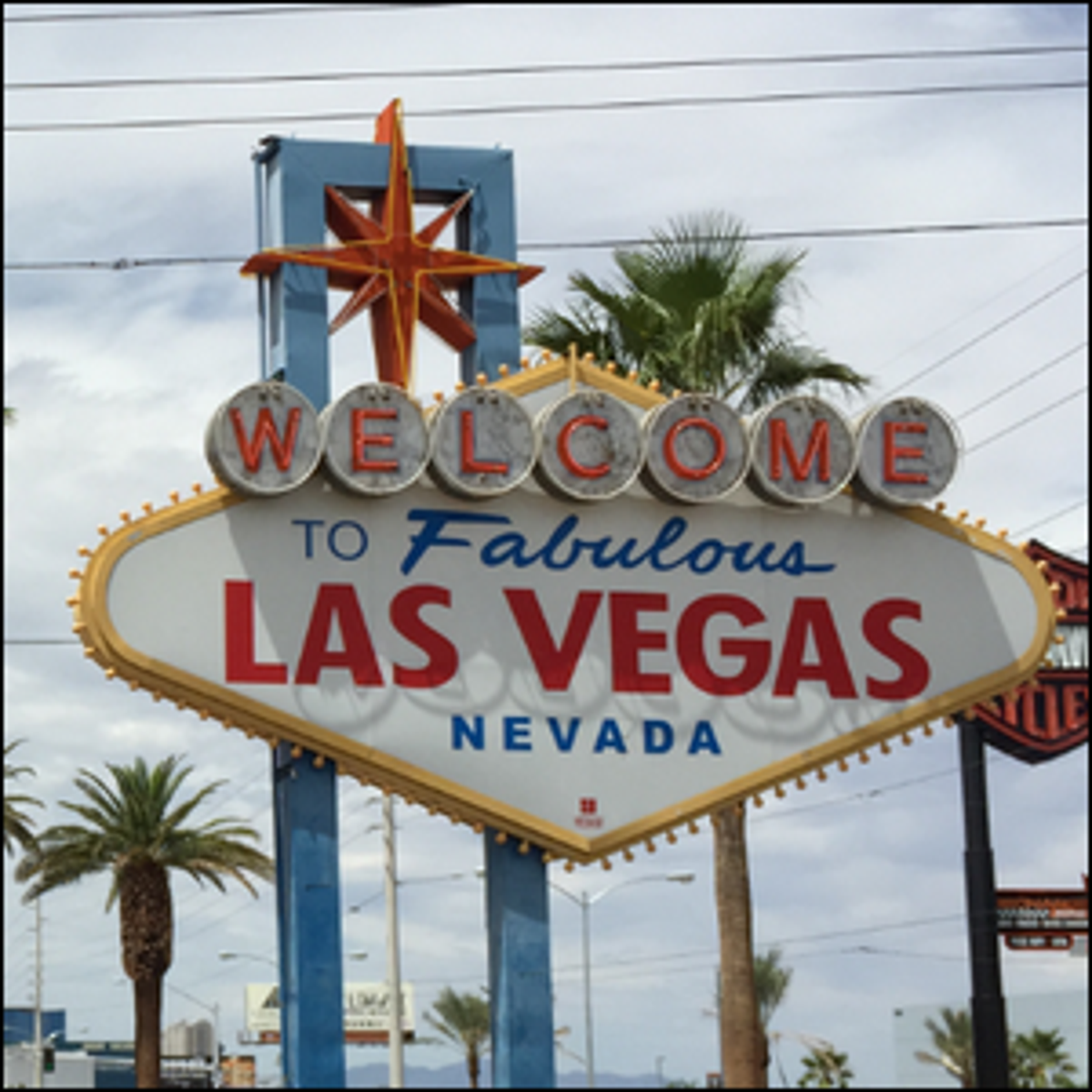 A photograph of the 1950s era Welcome to Las Vegas sign.