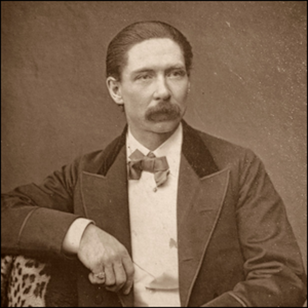 Photograph of John Nevil Maskelyne , English Stage-Illusionist and Inventor.