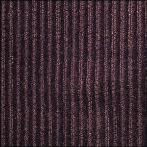 A close-up view of a textured swatch of corduroy  material.