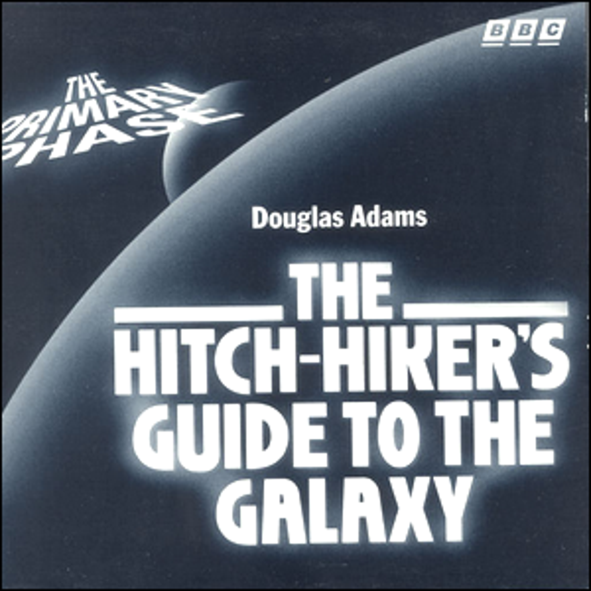 The cover art for the first part of the Hitchhiker's Guide to the Galaxy radio series.