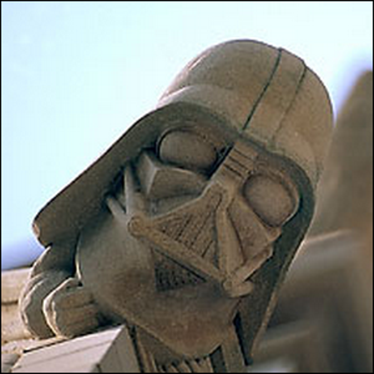 A photo depicting the Darth Vader grotesque.