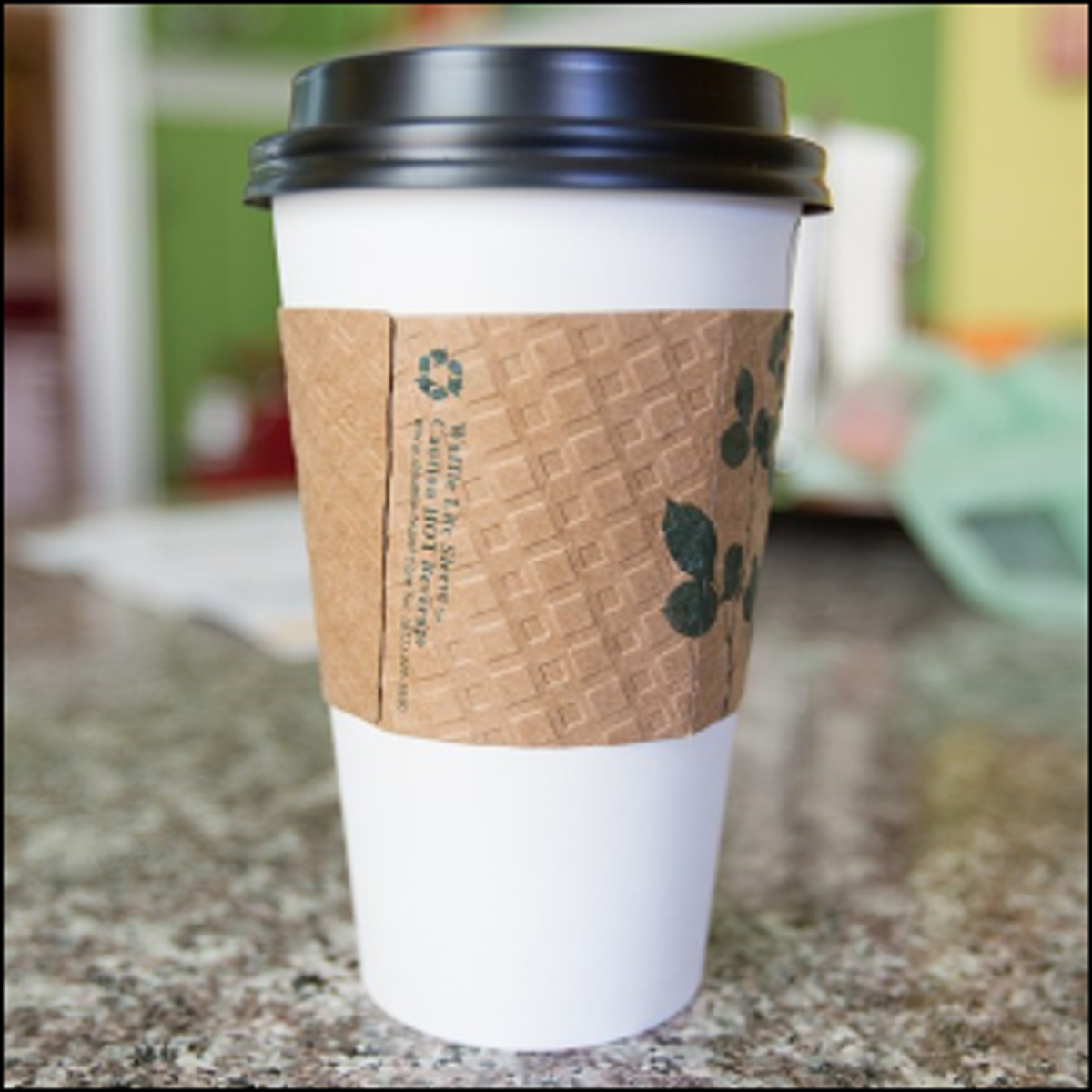 An example of a coffee cup sleeve, called a zarf.