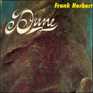 The original first edition cover of the book Dune by Frank Herbert.