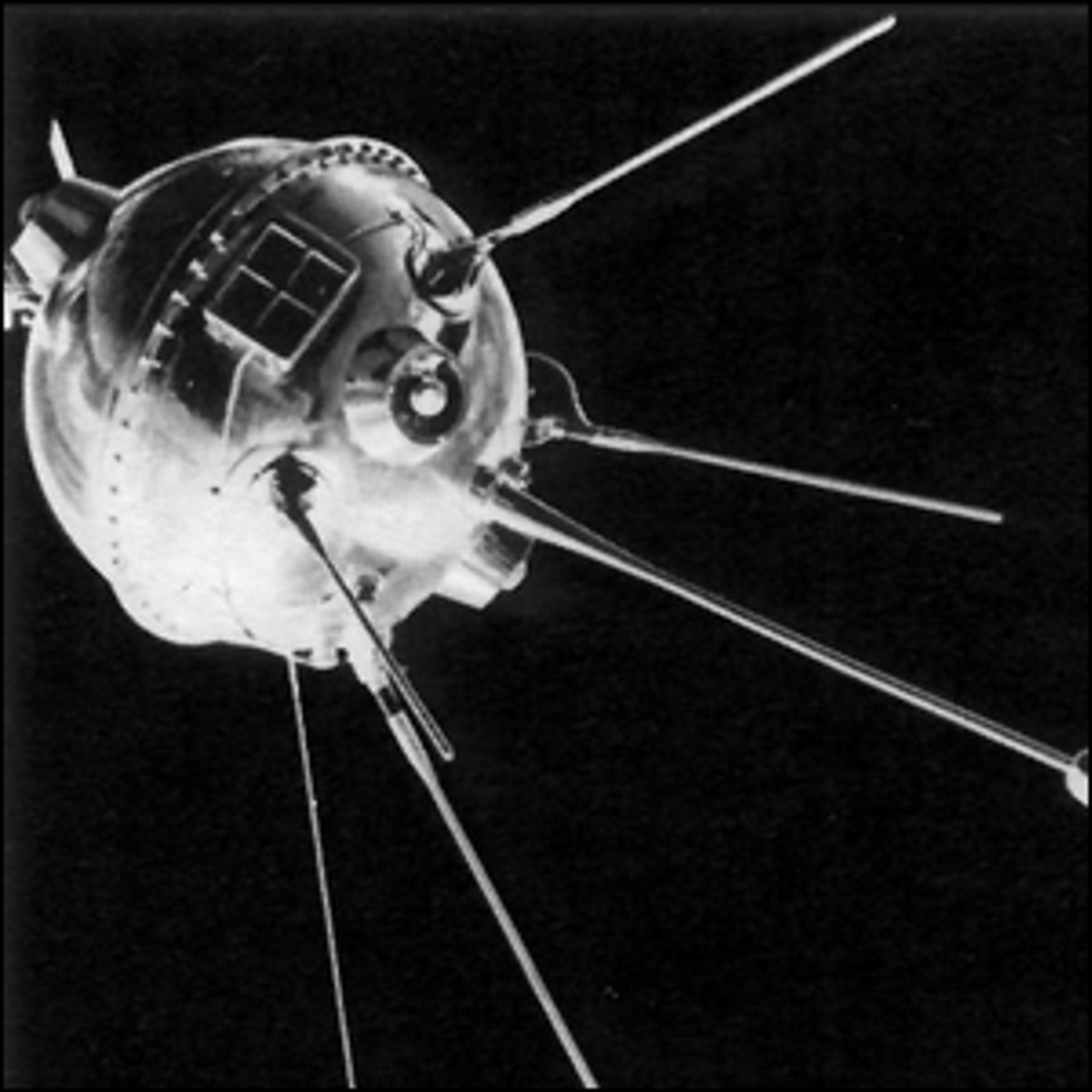 Russia's Luna 1 satellite, the first man-made object to escape the grip of Earth's gravity.