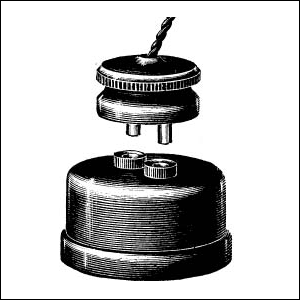 An early British G.E.C. 2-pin plug and socket as illustrated in the 1893 G.E.C. Catalogue.