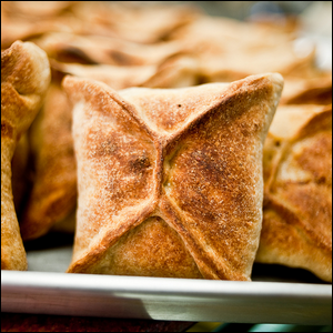 A small traditional coffin style pastry.