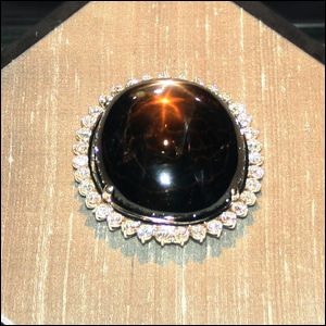 A photograph of the Black Star of Queensland sapphire.