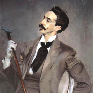 A portrait of Robert de Montesquiou from the late 19th century.