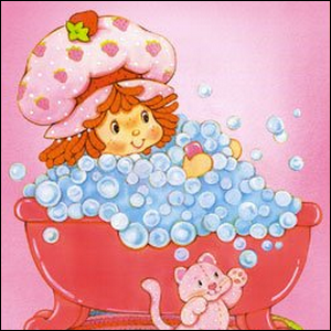 An early example of Strawberry Shortcake artwork by American Greetings.