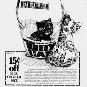 A vintage Tidy Cats coupon.