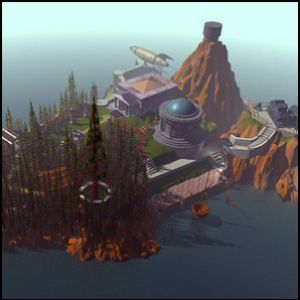 A promotional picture of Myst Island.