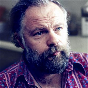 A photo from a BBC interview of Philip K. Dick.