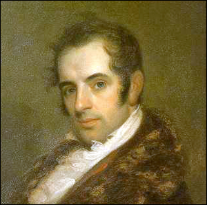 An 1809 oil painting of Washington Irving by John Wesley Jarvis.