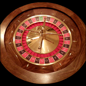 Photo of a roulette wheel.