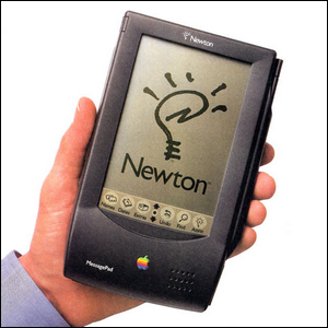 Photo of a Newton OS MessagePad made by Apple during the 1990s.