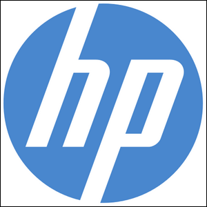 The logo for the Hewlett-Packard company.