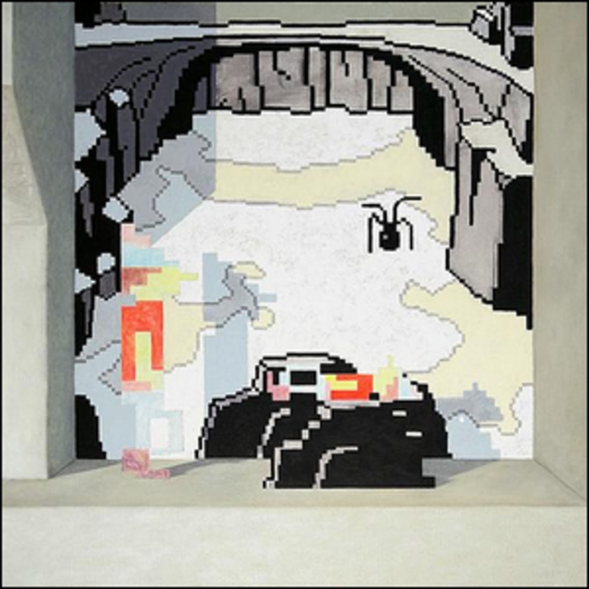 An image of one of Kristoffer Zetterstrand's well-known video game inspired paintings.