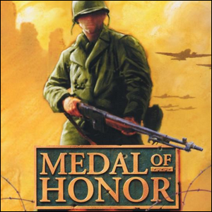 Cover artwork for the first Medal of Honor game.