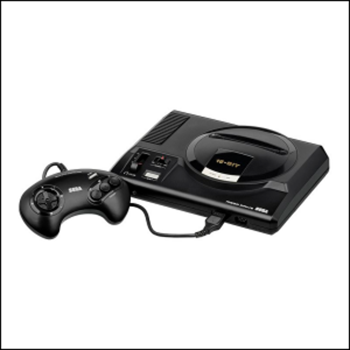 A photo of the European PAL version of the Mega Drive launched in 1990.