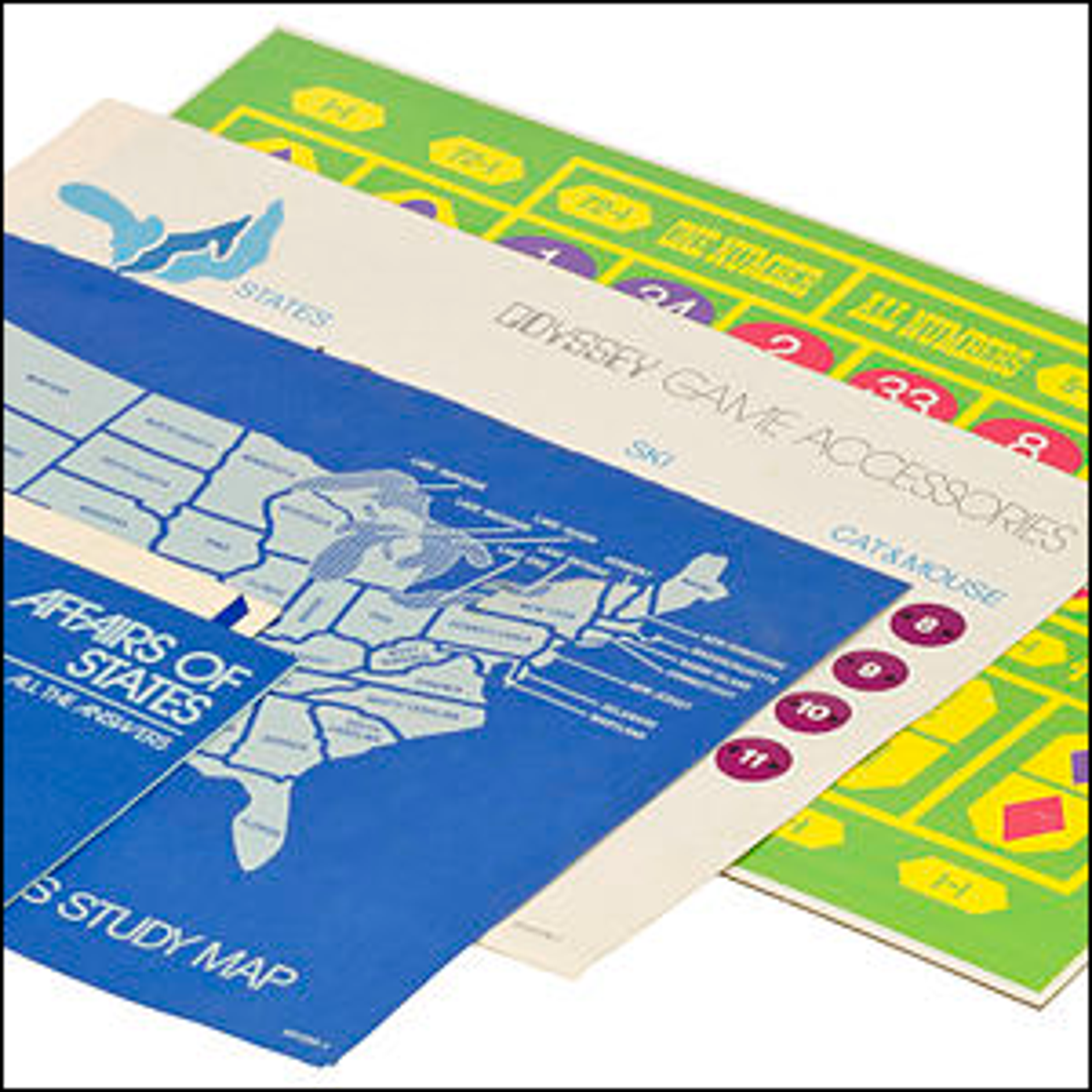 Game boards for the Magnavox Odyssey video game console.