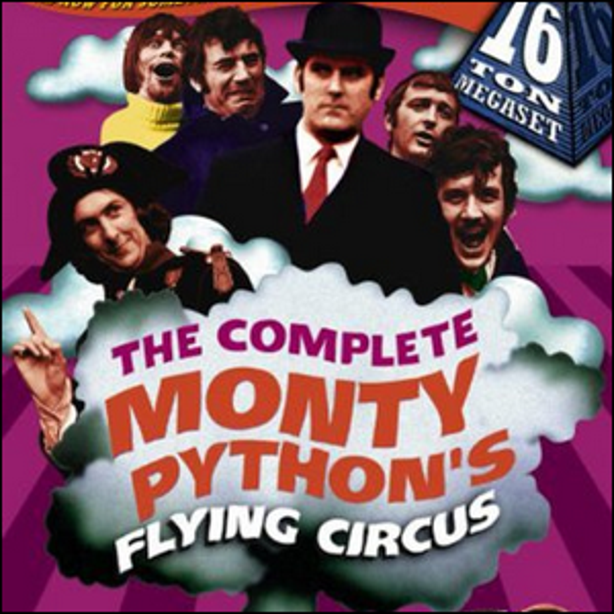 The cover artwork for The Complete Monty Python's Flying Circus release.