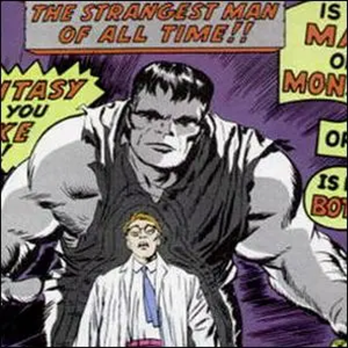 Artwork for the front cover of the first issue of the Incredible Hulk comic book.