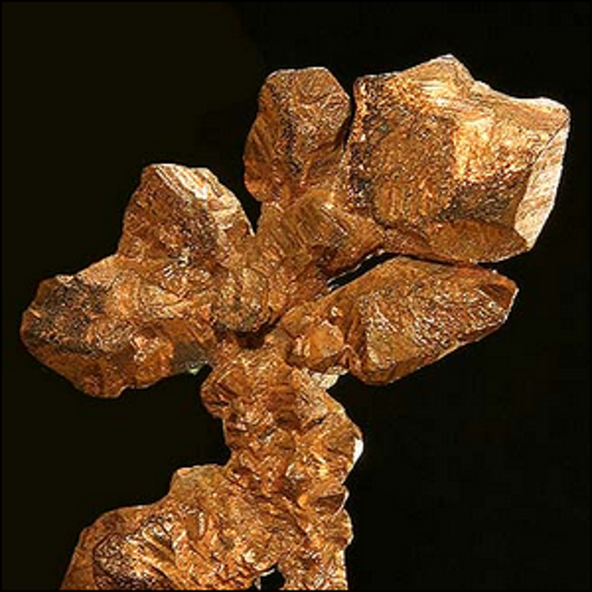 A sample of native copper from the Ray Mine, Arizona, United States.