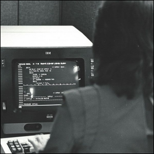 An Informatics General computer programmer working at the company's New York City office.