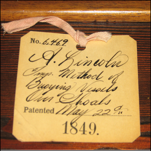Abraham Lincoln's 1849 vessel buoying patent.