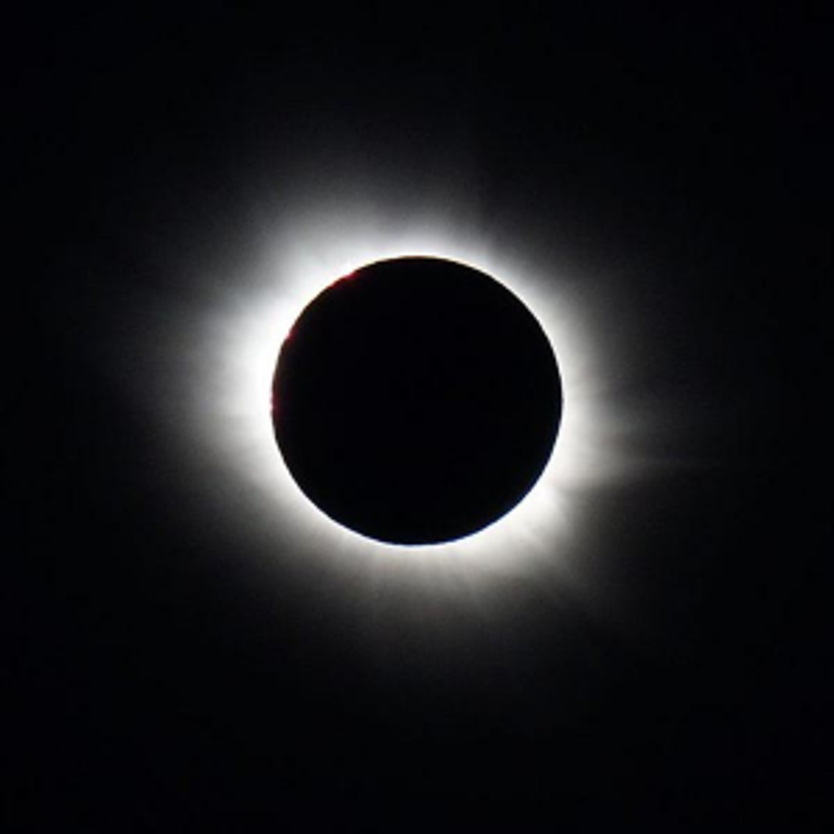 Photo of a total solar eclipse on March 20, 2015.