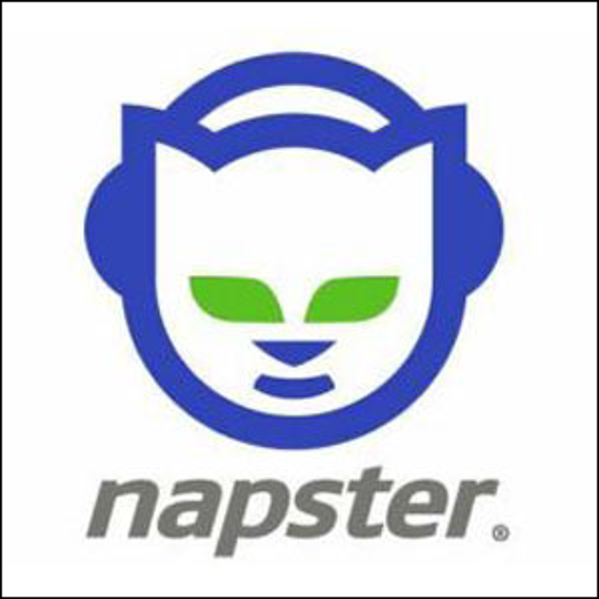 The logo for Napster.