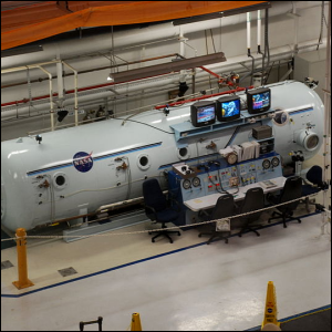 The decompression chamber at the Neutral Buoyancy Lab.