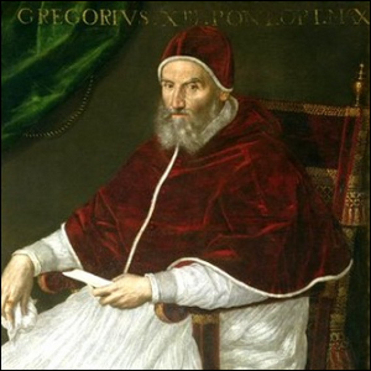 An early 17th century portrait of Pope Gregory XIII.