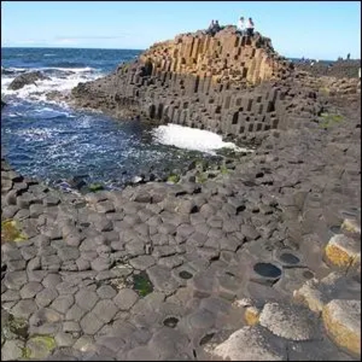 Photo of the Giant's Causeway, County Antrim, Northern Ireland.