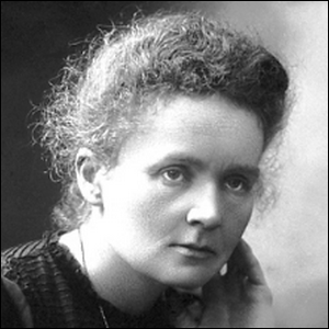 A photograph of Marie Curie taken in 1911.