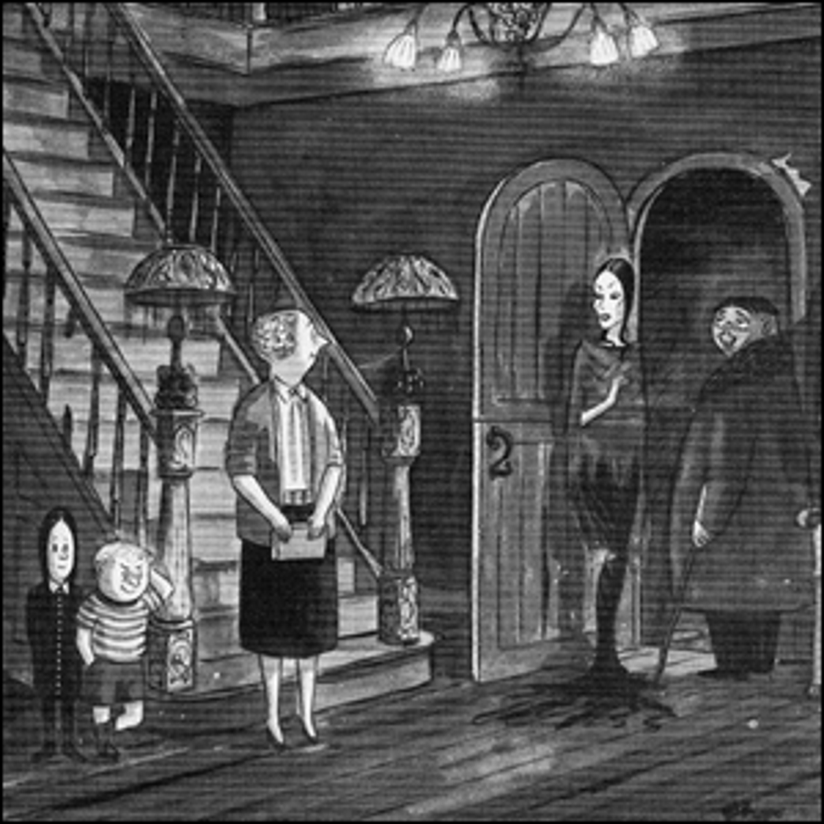 One of the original Addams Family cartoons from The New Yorker.