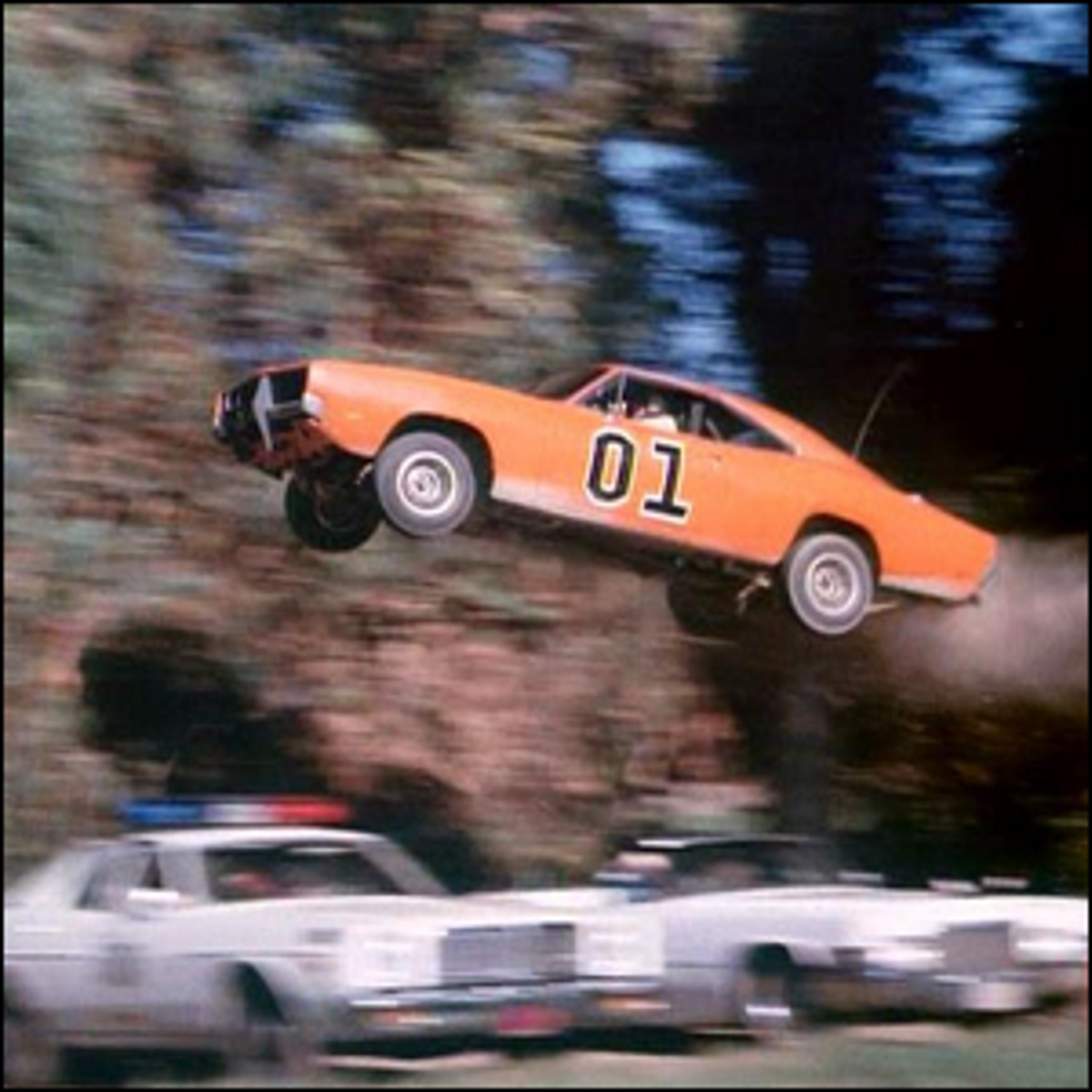 One of the many car jumps shown in The Dukes of Hazzard.