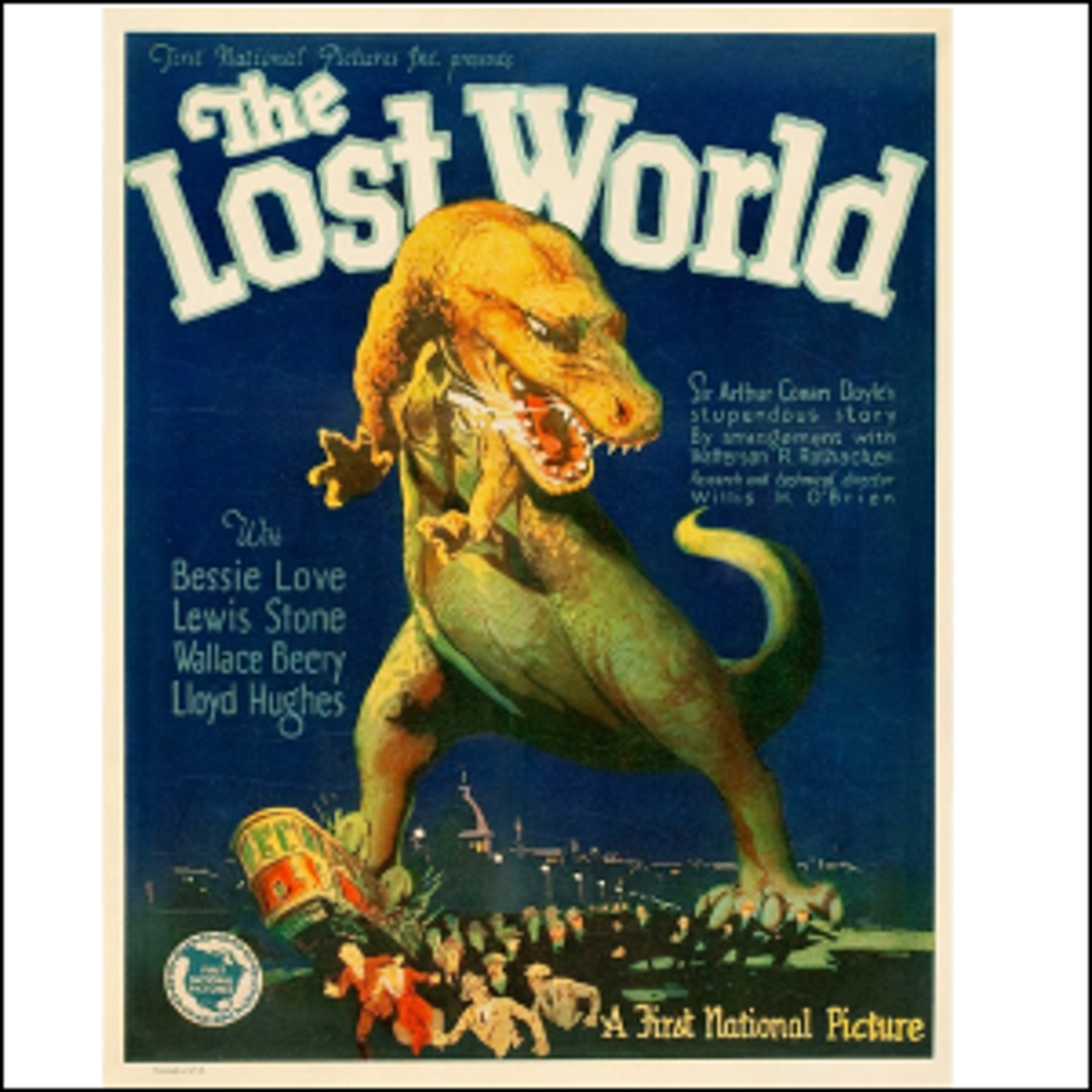 The 1925 movie poster for The Lost World.