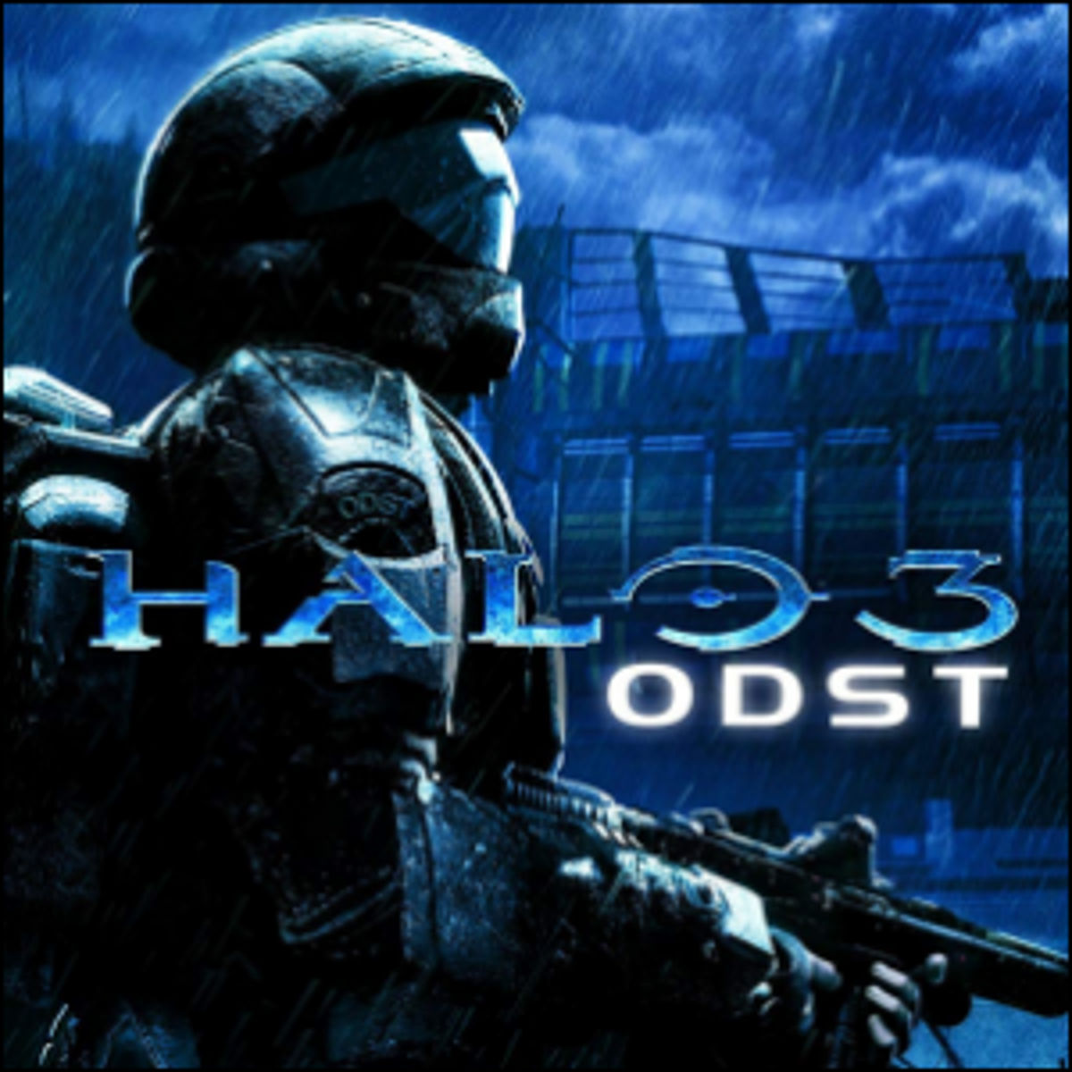 The cover art for Halo 3: ODST (Orbital Drop Shock Troopers).