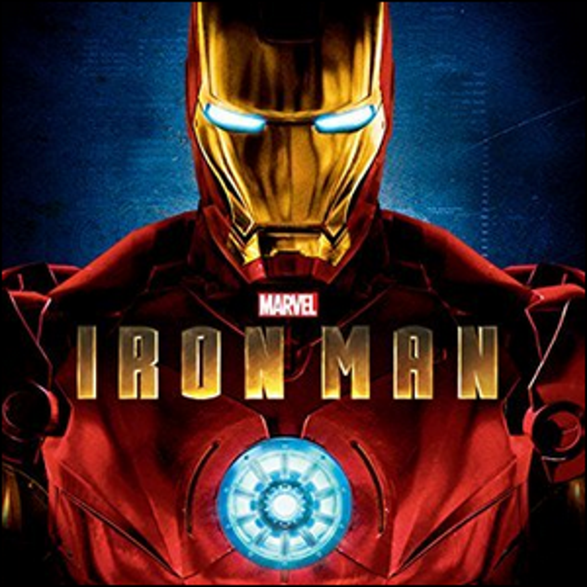The movie poster artwork for the first Iron Man movie.