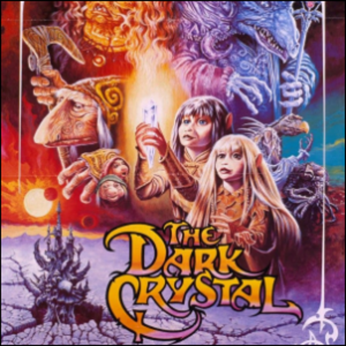 One of the various movie posters for The Dark Crystal.