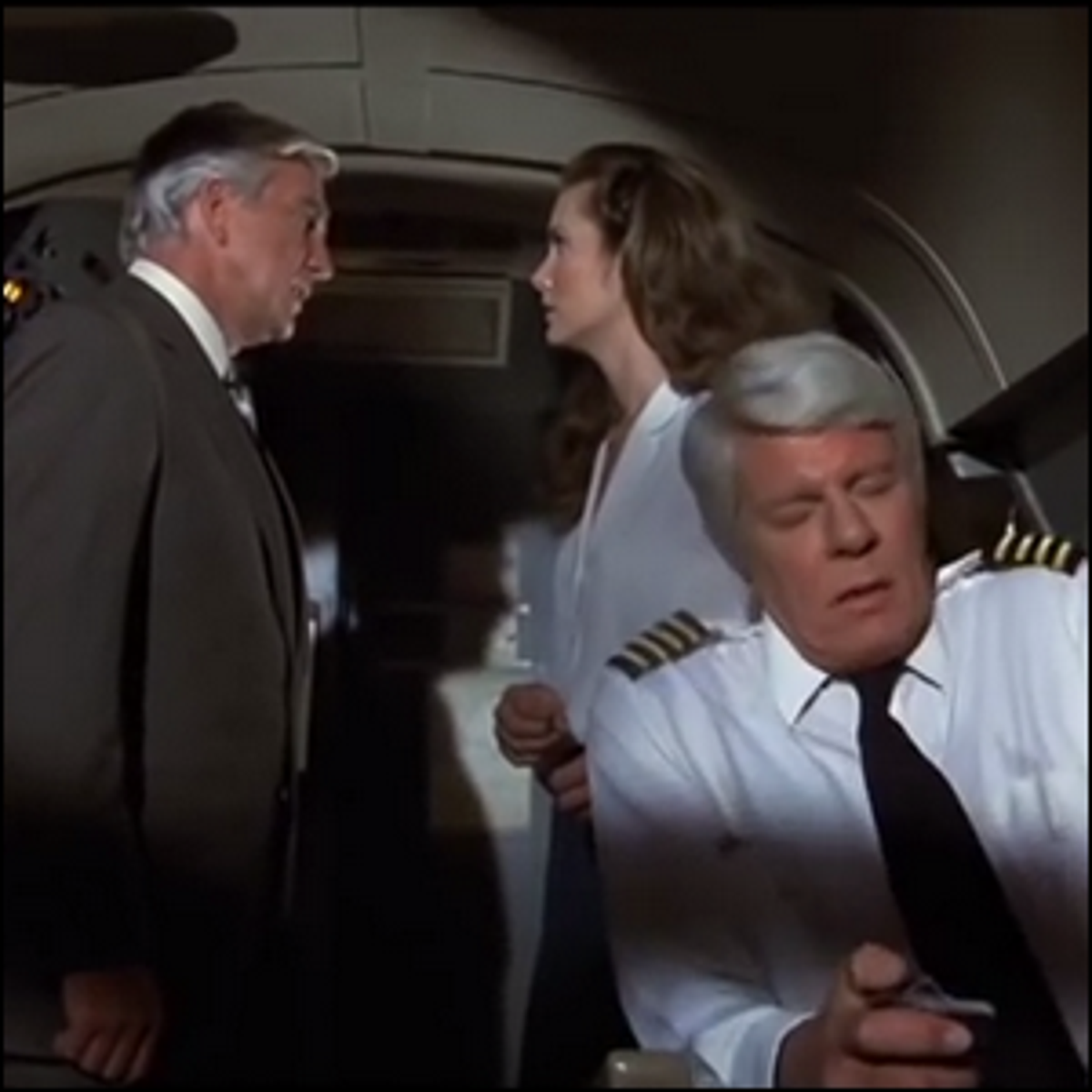 A scene from the 1980 movie Airplane! depicting one of the seriously ill pilots.
