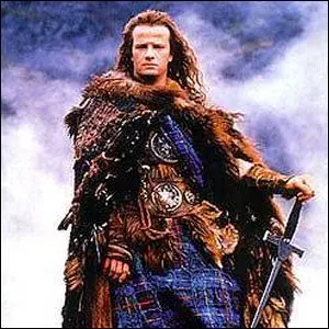 Christopher Lambert as Connor MacLeod in the first Highlander movie.