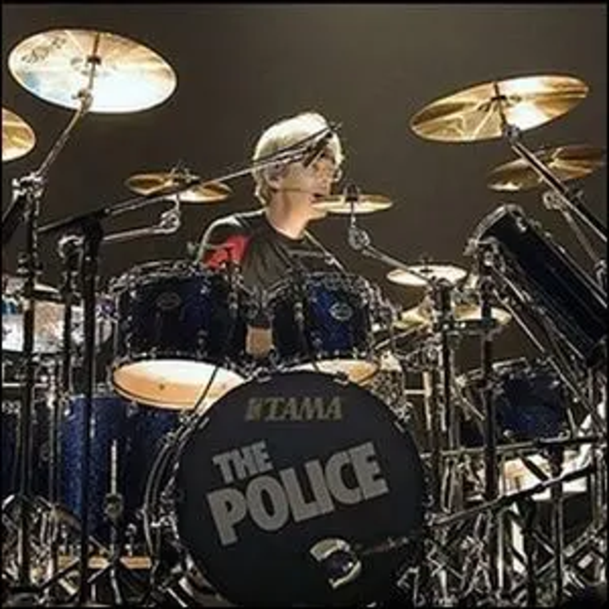 Stewart Copeland in a live music performance in Marseille, France.